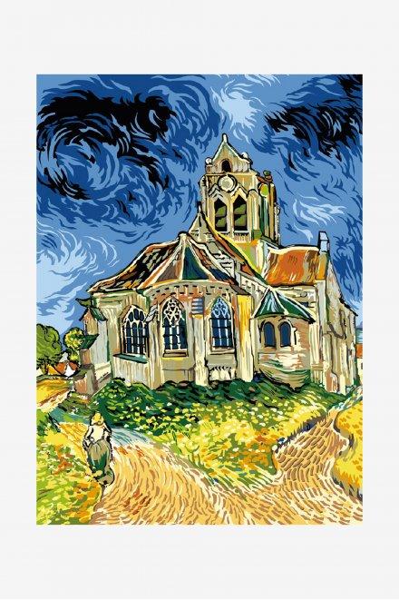 Antique Canvas - The Church at Auvers-sur-Oise