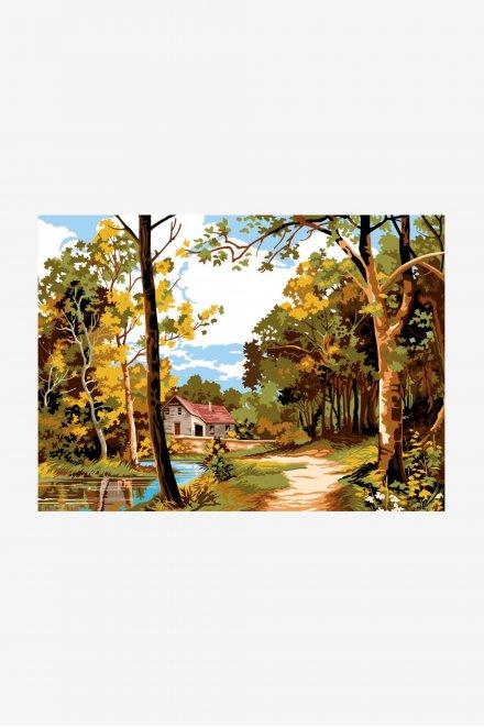 Antique Canvas - Tranquil Autumn