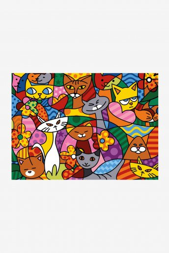 Canevas antique - Color Cats