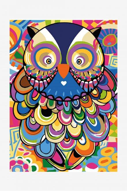 Antique Canvas - Owl