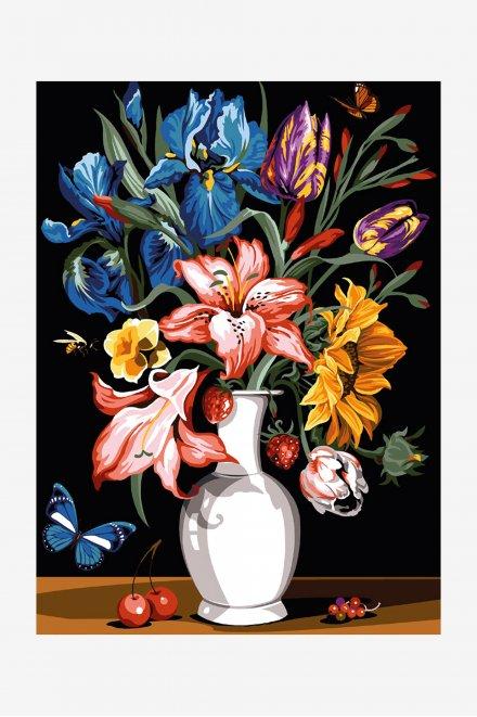 Antique Canvas - Blooming Bouquet