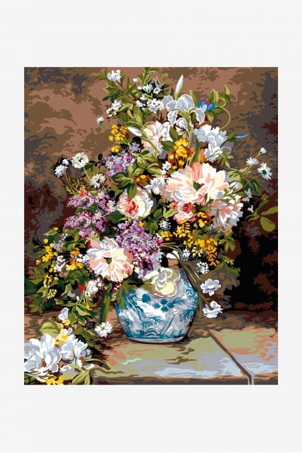 Antique Tapestry Canvas - The Bouquet