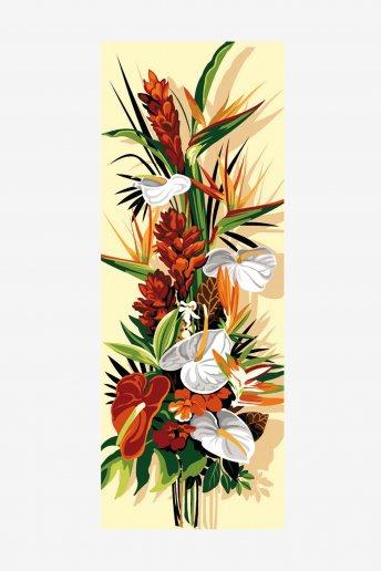 Cañamazo antique - Flores exóticas