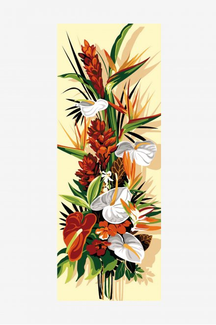 Antique Tapestry Canvas - Exotic Flowers