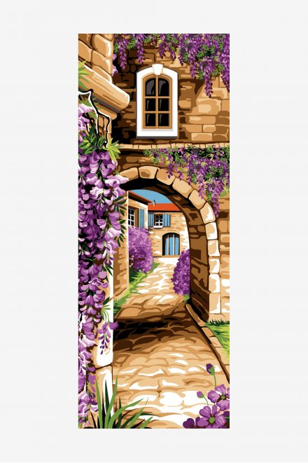 Antique Tapestry Canvas - Wysteria