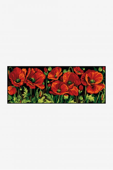 Antique Tapestry Canvas - Poppies