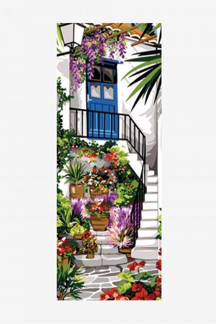 Antique Tapestry Canvas - Courtyard