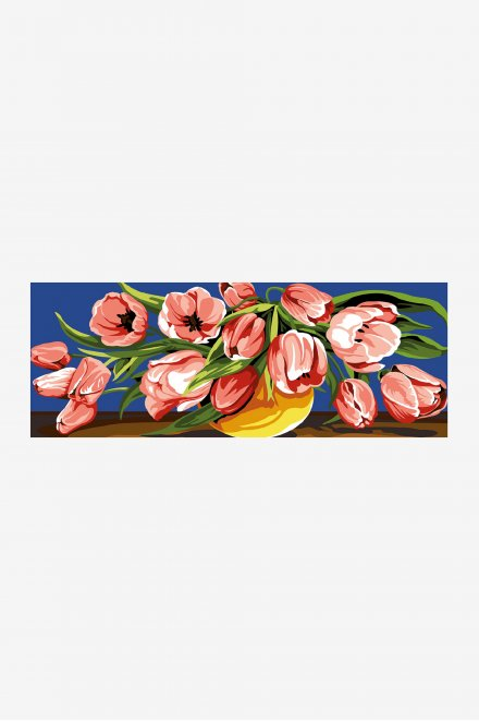 Antique Tapestry Canvas - Overflowing Tulips