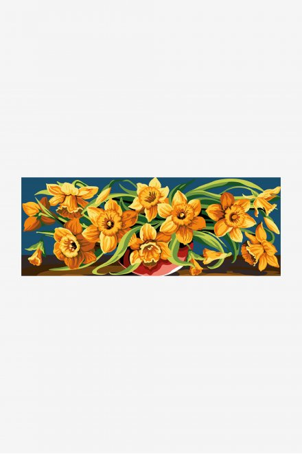 Antique Tapestry Canvas - Overflowing Daffodils