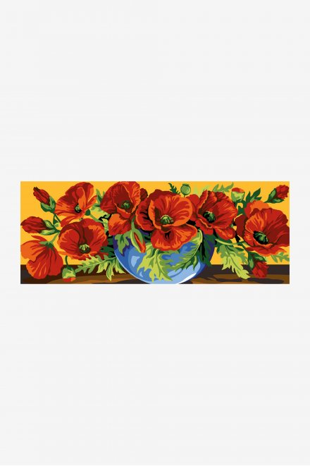 Antique Tapestry Canvas - Overflowing Poppies