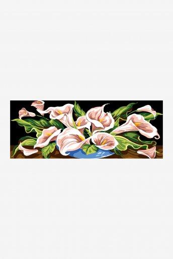 Cañamazo antique - Flor de Arum
