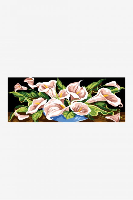 Antique Tapestry Canvas - Overflowing Lillies
