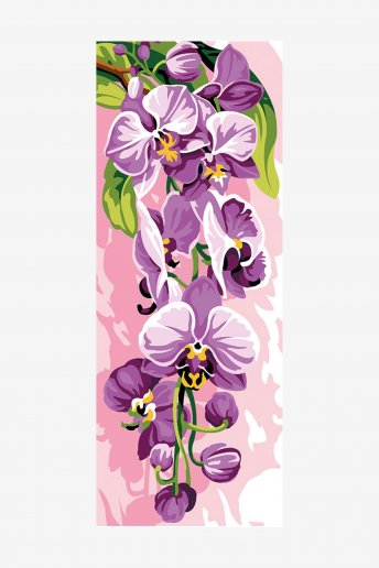 Cañamazo antique - Orquídea púrpura