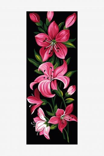 Cañamazo antique - Lirio rosa