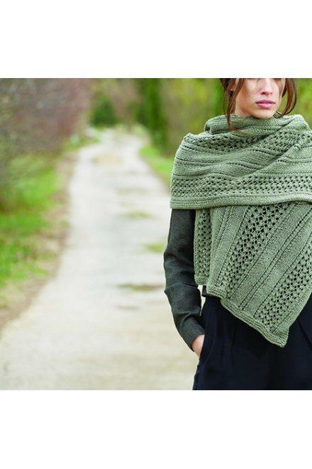 Modello tricot Kairi sciarpa a punto fantasia traforato