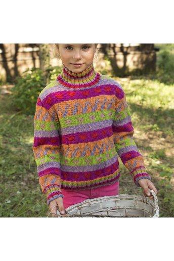 Modelo tricot kayla jersey niña jacquard multicolor