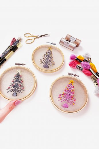 Tinsel Tree Ornament Bundle - Light Effects