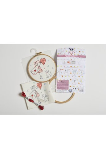 Cat Kids Embroidery Kit