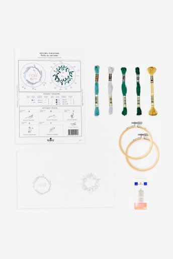 Kit duo déco naturel en broderie traditionnelle