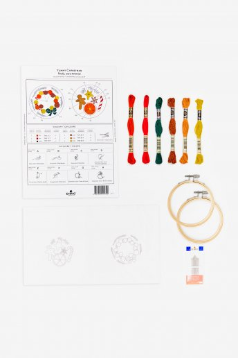Kit duo déco sucrerie  en broderie traditionnelle