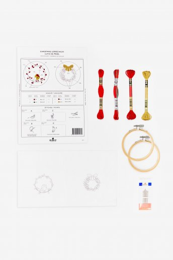 Kit duo déco couronnes  en broderie traditionnelle