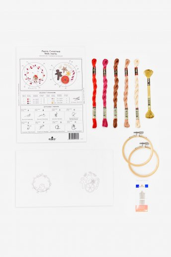 Kit duo déco pastels en broderie traditionnelle