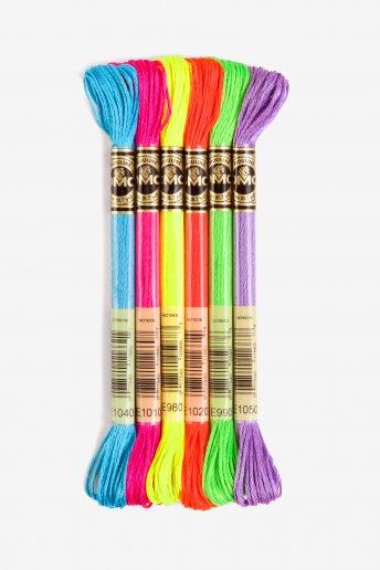 DMC Light Effects Fluorescent Thread Pack
