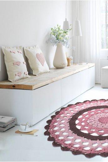 Patrón de alfombra de ganchillo mandala