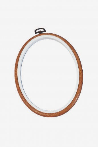 Ovaler Flexirahmen 18 x 13 cm