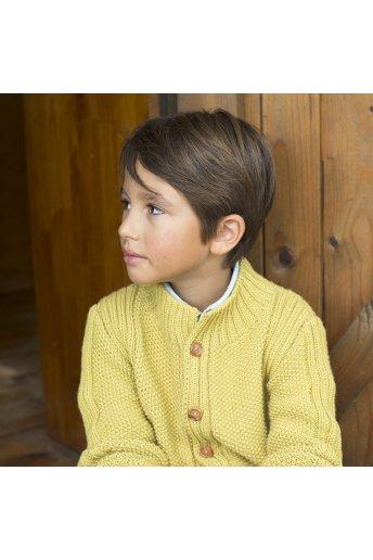 Modello tricot Nathan giacca bambino grana di riso