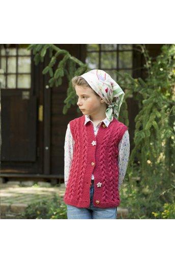 Modelo tricot nérissa chaleco niña trenzas