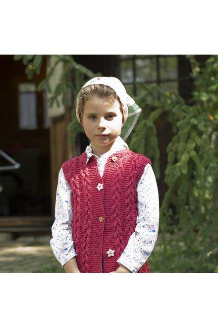 Modello tricot Nérissa gilet bambina trecce