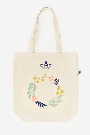 Pack sac motif couronne de fleurs