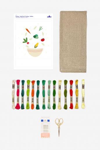 Salad Bowl Stitchable Towel Kit
