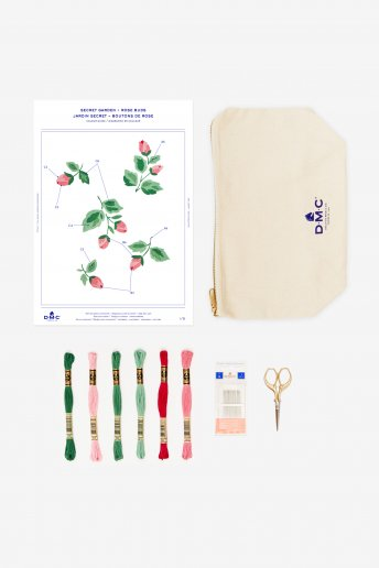 Rose Buds Pouch Bag Kit