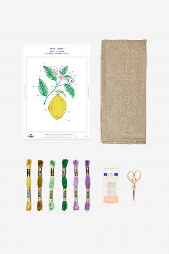 Lemon Stitchable Towel Kit