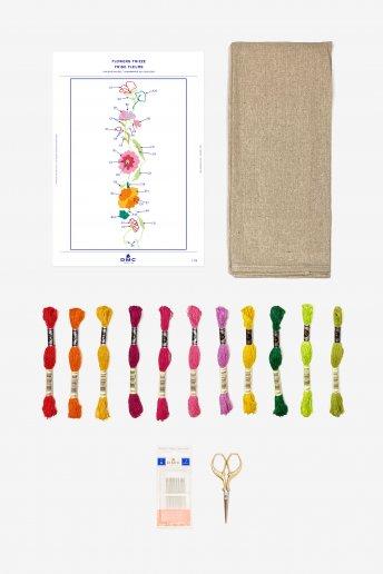 Flowers Border Stitchable Towel Kit