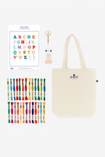 Pack sac motif alphabet