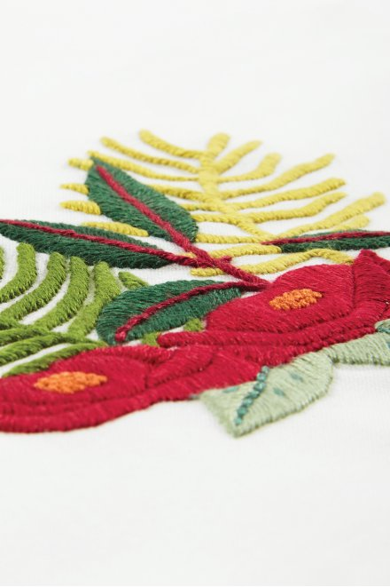 Fougères tropicales - motif broderie