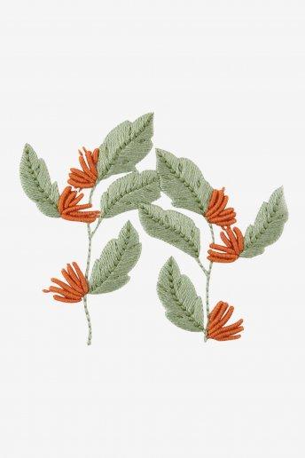 Tropikale strukturierte Blume - STICKMOTIV