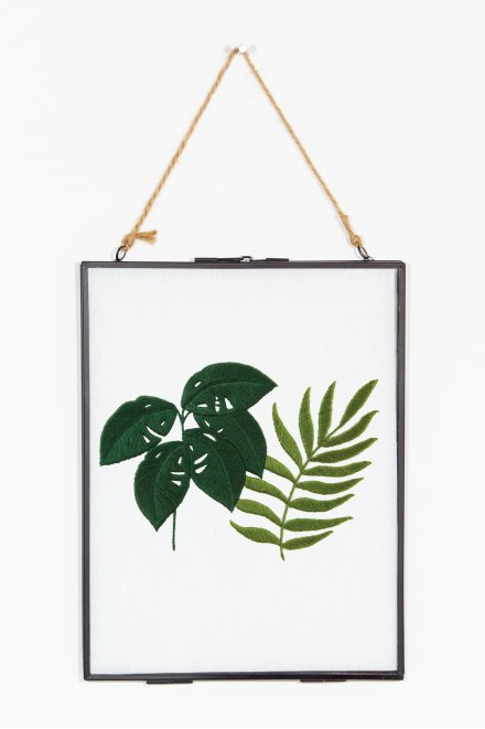 Philodendron & fougère - motif broderie