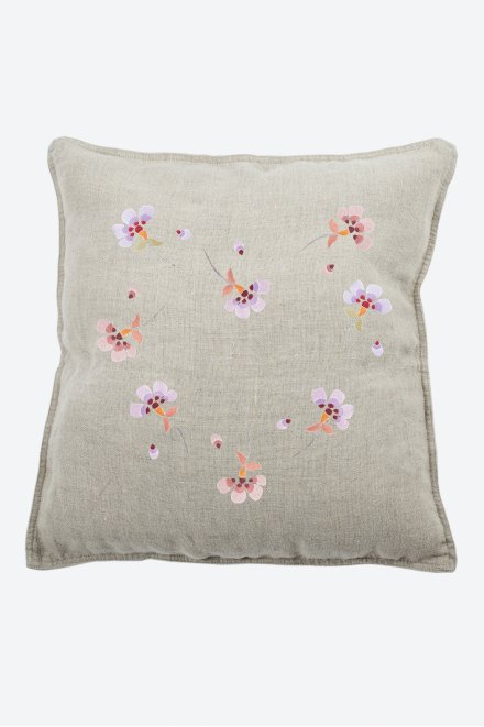 Flower power pervenche - motif broderie