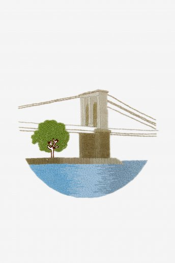 Pont de brooklyn - motif broderie