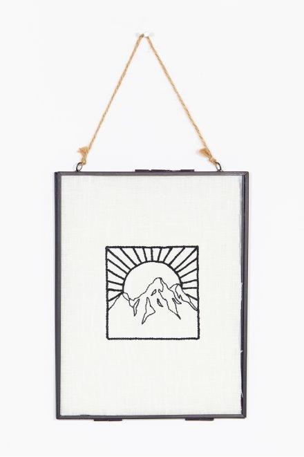 Montagne & soleil - motif broderie