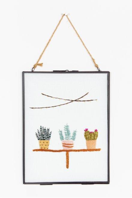 Plantes vertes - motif broderie