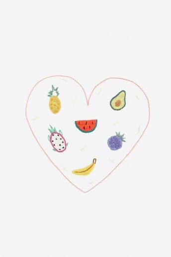 Fruits - motif broderie