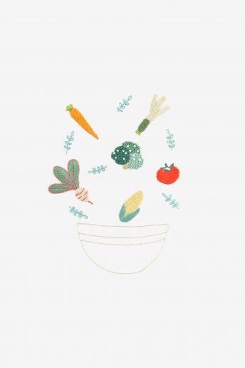 Légumes en folie - motif broderie