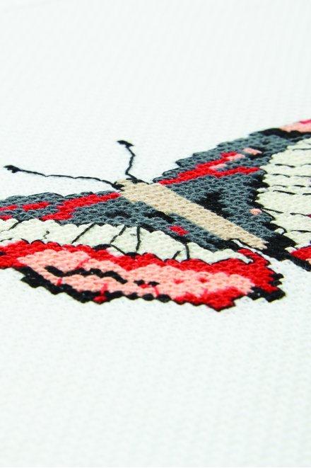 Papillon lana - Diagramme point de croix
