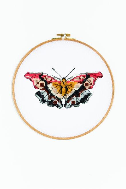 Butterflies lily - Diagramme point de croix