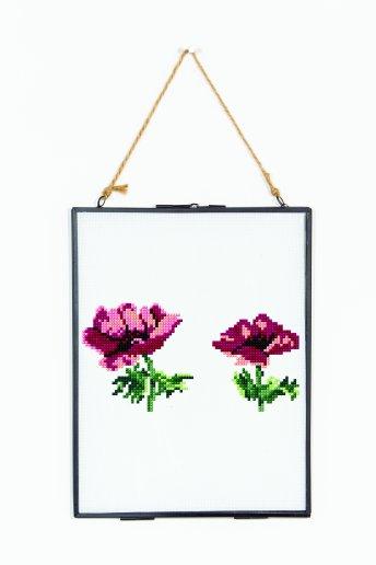 Blume A - Rosa MohnblumeZÄHLVORLAGE